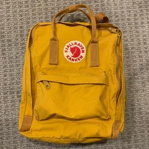 Yellow Fjallraven Kanken Backpack